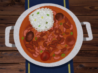 Red Beans & Rice Illustration food and drink foodie food art illustration art beans rice southern south louisiana food illustration food procreate art procreate app procreate illustration