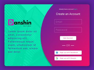 Signup page #dailyui #001 001 dailyui figma websitedesign web