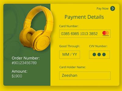 Credit card checkout page 002 dailyui freelance website figma websitedesign web