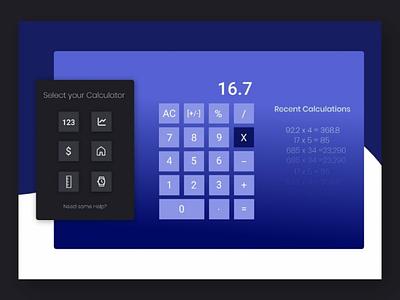 Calculator figma wordpress freelancing websitedesign webdesign website web 004 dailyui