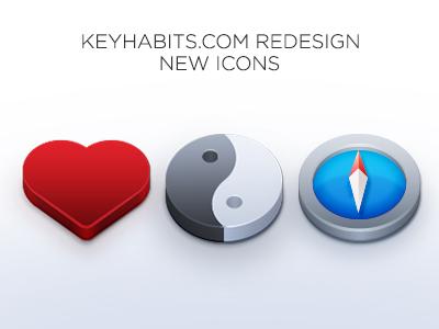 Keyhabits icons keyhabits icon heart jingjang compass red silver clean