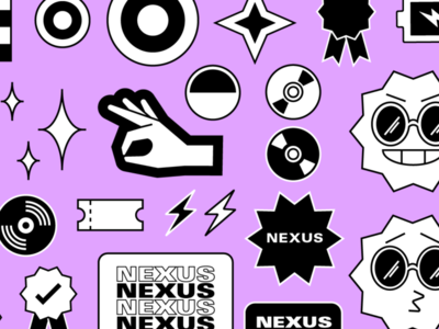 Nexus: Illustration Style visual identity branding design festival app branding vector design illustration