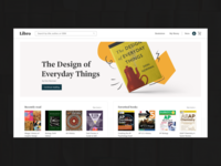 Libro: Home Screen ecommerce store book website web design ux ui design