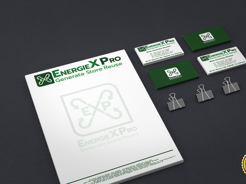EnergieX Pro corporate logo design brand design