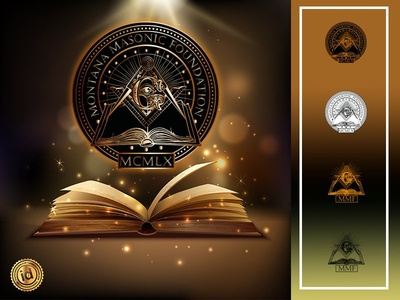 Montana Masonic Foundation logo vector corporate masonic logo design branding logodesign branding design