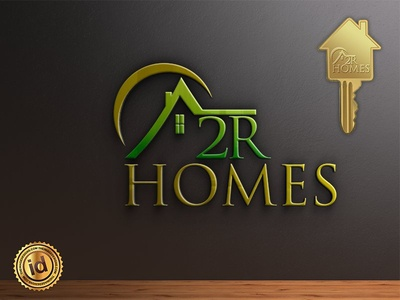 A2R HOMES brand design vector branding design realestate key real estate corporate logo design branding design