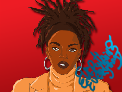 L Boogie music red drawing draw black adobe photoshop illustration