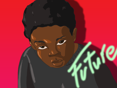 Future the Boy sketching sketches drawing sketch draw cartoon illustration photoshop adobe photoshop adobe red future boy black