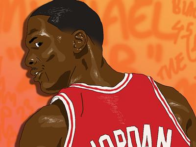 Jordan bulls bull red illustration photoshop michael jordan ball drawing draw basketball