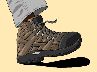Working Man design minimalist sketches sketch shoes boots art photoshop drawing illustrations illustration