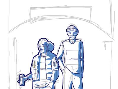 'Episode Twenty20' sketch bts digital art poster poster art art progress sketch drawing illustration