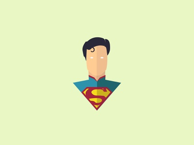 Superman superman dc minimal illustrator animation illustration design character