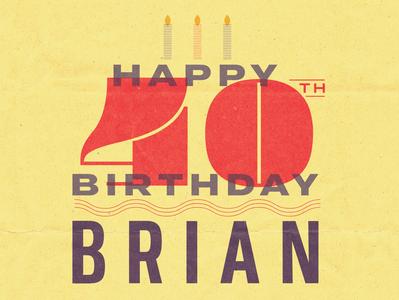 Happy Birthday Brian! graphic 40th birthday