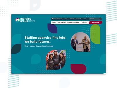 #BuiltByClique: Morales Group website ui animation web branding design
