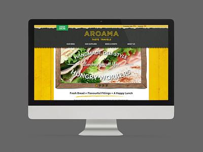 Aroama Website Design brand design branding design website belfast website design website design belfast