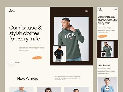 Kixo.🤞 landing page online shop online store ecommerce fashion clean branding website web ux ui design