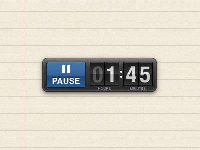 Flip-clock timer timer flip-clock illustrator ipad
