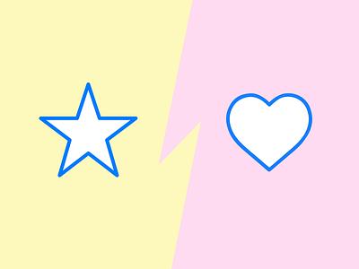 Star Vs Heart star heart ios icons icon design