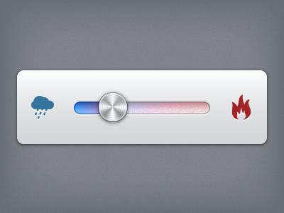 (Stay Cool / Burn It Baby ) Slider ux slider icons