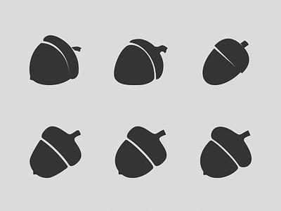 The Acorn Evolution acorn illustrator icon tits