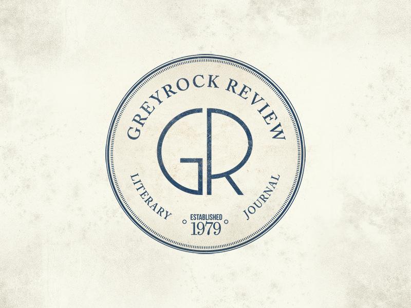 Greyrock Review Logo journal seal art-deco logo literary arts publication