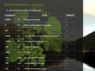 CSU Environmental Affairs Snippet