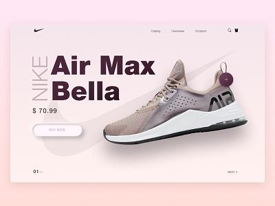 Nike - landing page feedback freelance figma designs desktop redesign boots airmax nikeairmax nike nike air uiuxdesign nik uiux web typography branding ui design