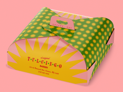 Tulcingo Bakery Cake Box bakery adobe photoshop adobe illustrator brand identity branding packaging graphic design