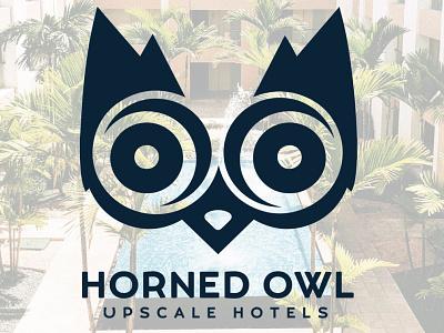 Brand Identity for Horned Owl Upscale Hotels. owl logo hotel logo brand identity logo designer logo design logo graphic  design graphic design branding design branding
