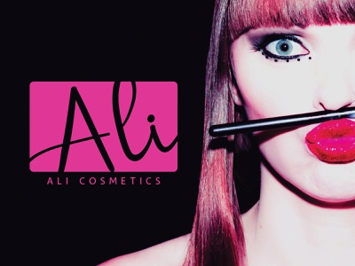Ali Cosmetics Branding cosmetics logo branding and identity branding concept brand identity logo graphic design graphic  design logo design logo designer branding branding design