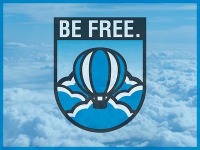 Freedom Balloon  - Badge Design badge cloud logo balloon logo badgedesign badge logo badge design brand identity graphic designer illustration logo design