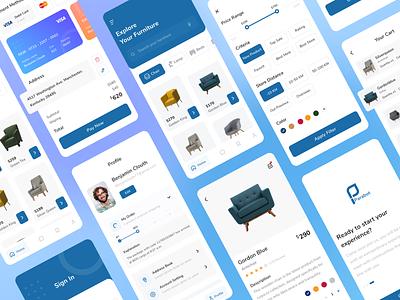 Furniture App Concept ux ui furniture app uiux furniture design ecommerce app