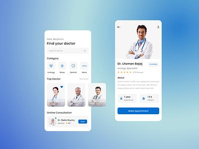 Doctor Booking App design uiux ux ui doctor appointment doctor app doctors