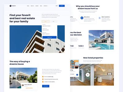 Myhum - Real Estate Landing Page graphic design furniture app dribbble ux rent home real estate design uiux ui