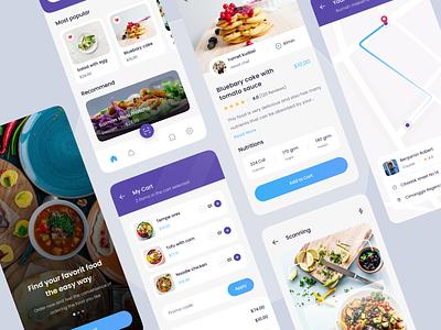 Food Mobile App food delivery food design uiux ux ui