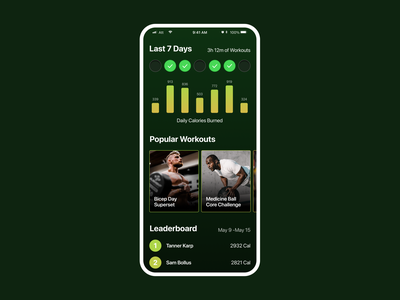 Workout Tracker App mobile app mobile dailyui 001 workout app workouttracker workout tracker workout dailyui