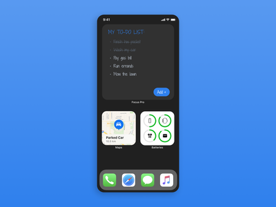 Minimal To-do List Widget mobile ui mobile addiction to-do list widget widget to-so list todolist todo to-do dailyui042 042 dailyui