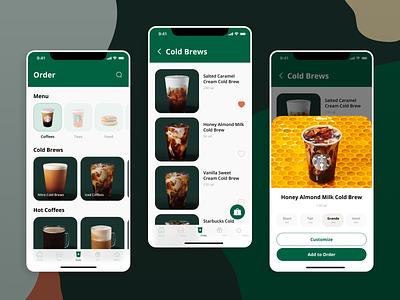 Starbucks Menu Redesign daily ui mobile menu coffee order starbucks menu dailyui043 dailyui