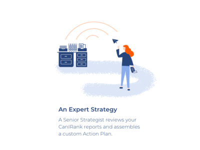 An Expert Strategy character monterail icon app ui vector illustration