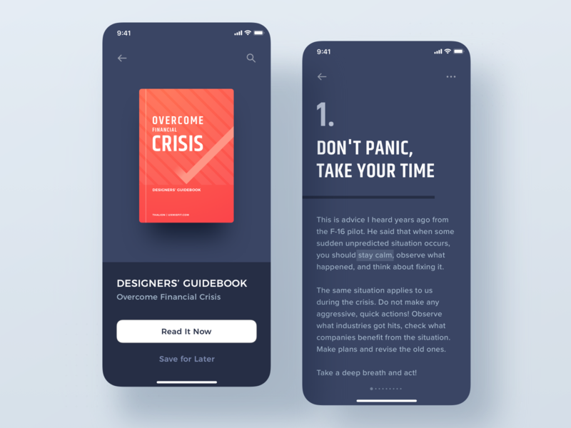Designers' Guidebook - Overcome Financial Crisis finance income crisis freelancer money bank cryptocurrency guide book ebook