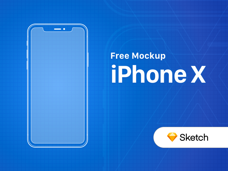 FREE iPhone X Outline Mockup outline free sketch mockup device apple iphone x iphone