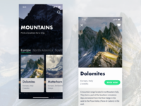 Mountains Trips App Concept