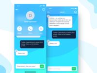 Messenger concept for iOS