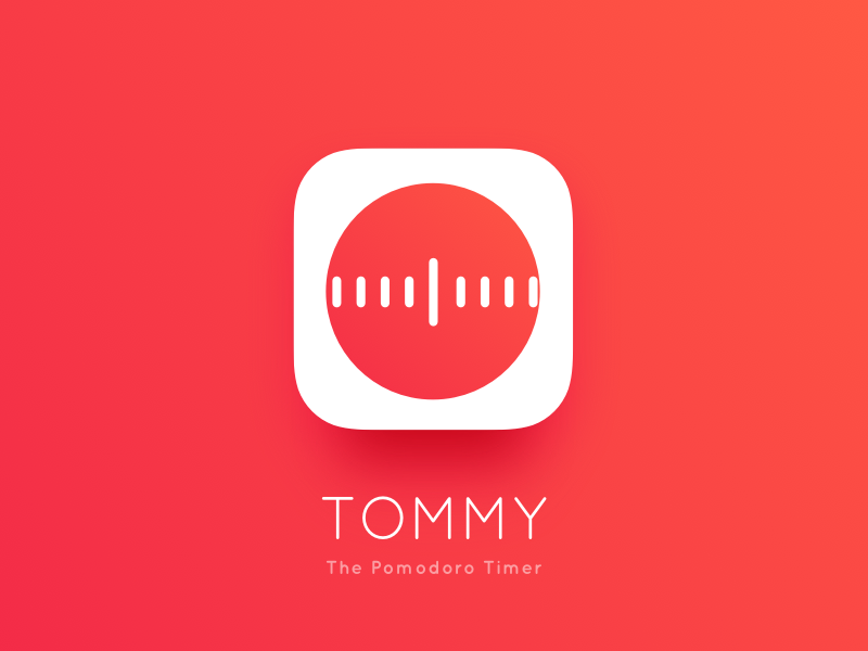 Tommy - Pomodoro Timer App Icon red clock list todo productivity ios timer pomodoro app icon
