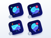 Chat App Icons for iOS
