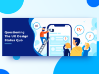 UX Design Status Quo - Blog Article Illustration