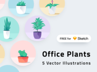 Office Plants for Sketch