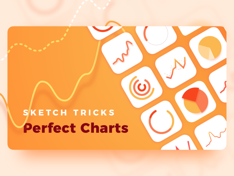 Story Cover - Sketch Tricks Charts ui dashboard graph circle graph donut chart cover blog tutorial charts chart sketch app sketch