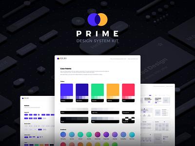 Prime Design System Kit for Sketch ui framework style guide ui template flinto sketchapp tool uikits uikit design system prime
