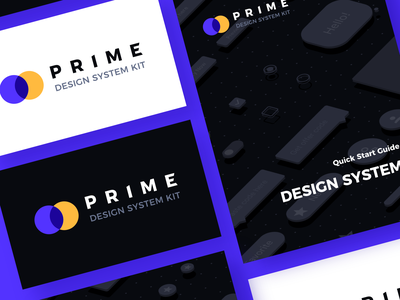 Prime Design System Kit for Sketch - Brand Identity ux ui light dark uidesign ui kit design system brand logo prime